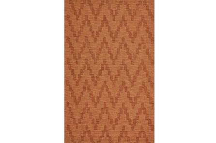 60X96 Rug-Orange Tonal Flamestitch - Main