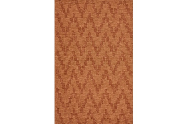 60X96 Rug-Orange Tonal Flamestitch - 360