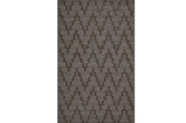 60X96 Rug-Charcoal Grey Tonal Flamestitch
