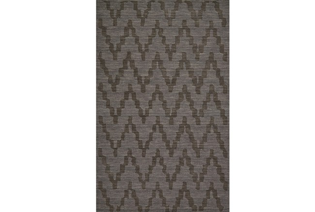 60X96 Rug-Charcoal Grey Tonal Flamestitch - 360