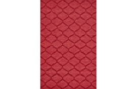 96X132 Rug-Crimson Red Tonal Links