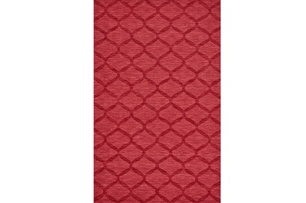 96X132 Rug-Crimson Red Tonal Links - Main