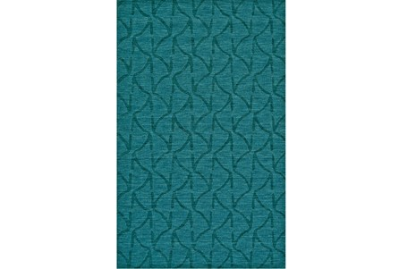 96X132 Rug-Teal Tonal Ripples