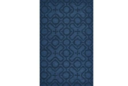 96X132 Rug-Cobalt Blue Tonal Xo