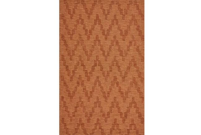 96X132 Rug-Orange Tonal Flamestitch - 360