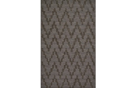 96X132 Rug-Charcoal Grey Tonal Flamestitch