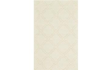 8'x11' Rug-Ivory Tonal Quatrefoil