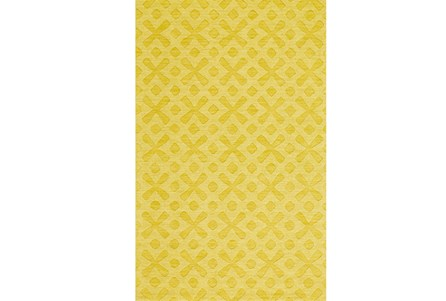 114X162 Rug-Yellow Tonal Starbursts