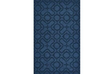 114X162 Rug-Cobalt Blue Tonal Xo