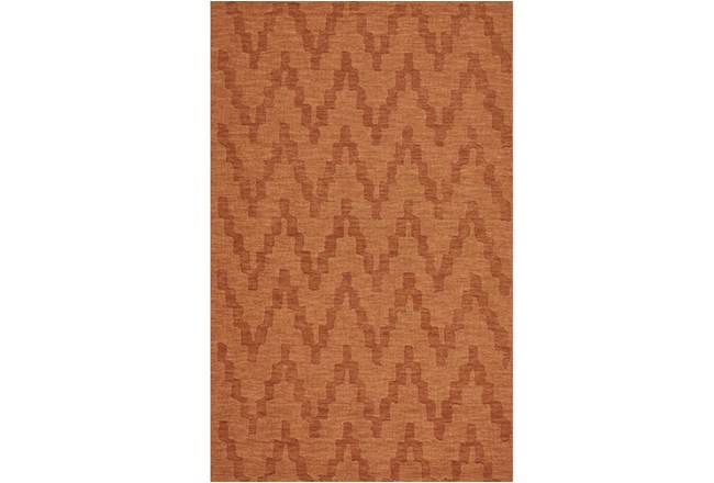 114X162 Rug-Orange Tonal Flamestitch - 360