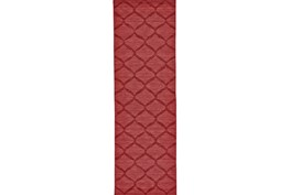 30X96 Rug-Crimson Red Tonal Links