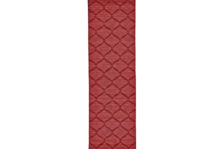 30X96 Rug-Crimson Red Tonal Links - Main