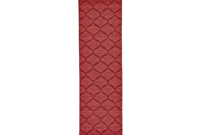 30X96 Rug-Crimson Red Tonal Links - 360