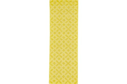 30X96 Rug-Yellow Tonal Starbursts