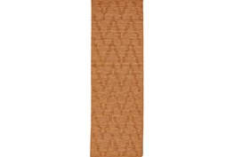 30X96 Rug-Orange Tonal Flamestitch
