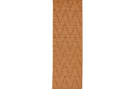 30X96 Rug-Orange Tonal Flamestitch - Main