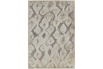 """5'3""""x7'5"""" Rug-Pewter And Cream Ikat"""