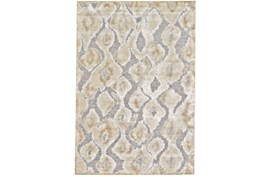 """7'5""""x10'5"""" Rug-Pewter And Cream Ikat"""