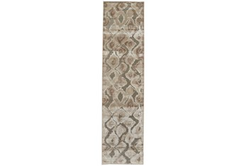 """2'5""""x8' Rug-Pewter And Cream Ikat"""