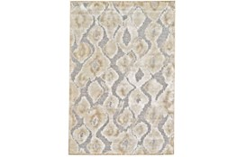 116X151 Rug-Pewter And Cream Ikat