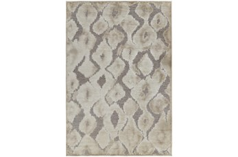 """9'6""""x12'6"""" Rug-Pewter And Cream Ikat"""