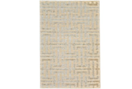 63X90 Rug-Cream And Silver Links