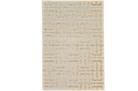 63X90 Rug-Cream And Silver Links - Main