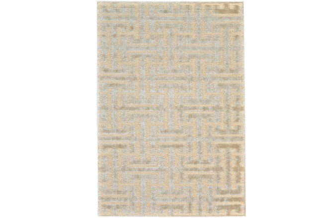 90X126 Rug-Cream And Silver Links - 360