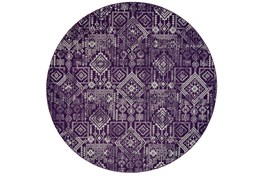 96 Inch Round Rug-Violet Turkish Pattern