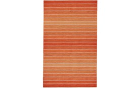 5'x8' Rug-Orange Ombre Stripe Flat Weave