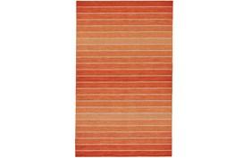 8'x11' Rug-Orange Ombre Stripe Flat Weave