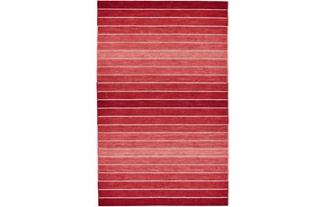 8'x11' Rug-Red Ombre Stripe Flat Weave