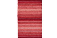 114X162 Rug-Red Ombre Stripe Flat Weave