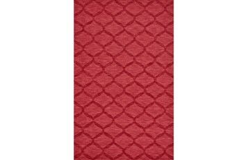 2'x3' Rug-Crimson Red Tonal Links