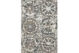 96X132 Rug-Stone Grey Distressed Round Medallions