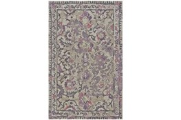 "7'8""x9'8"" Rug-Lilac And Grey Traditional Floral"