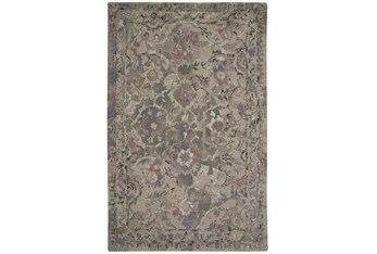 """7'8""""x9'8"""" Rug-Lilac And Grey Traditional Floral"""