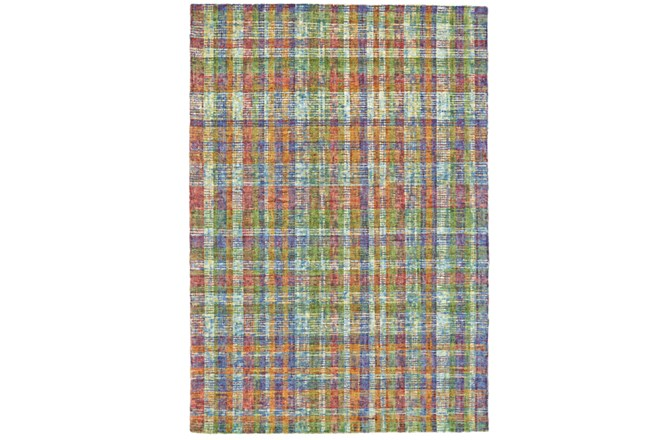 "3'5""x5'5"" Rug-Cayman Multi Color Plaid - 360"