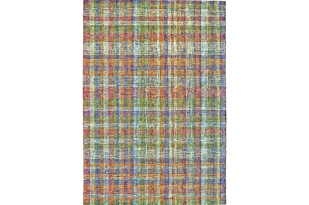 87X111 Rug-Cayman Multi Color Plaid - Main