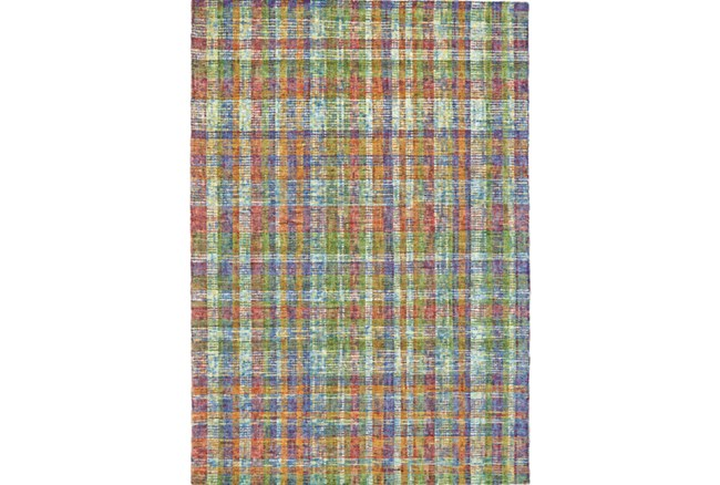 87X111 Rug-Cayman Multi Color Plaid - 360