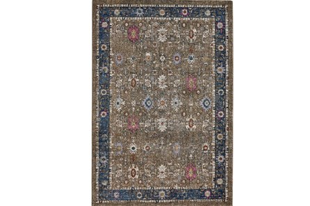 63X91 Rug-Blue And Mocha Parisian Traditional - Main