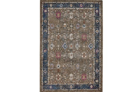 94X130 Rug-Blue And Mocha Parisian Traditional