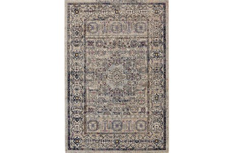 26X48 Rug-Beige And Lilac Parisian Medallion Border