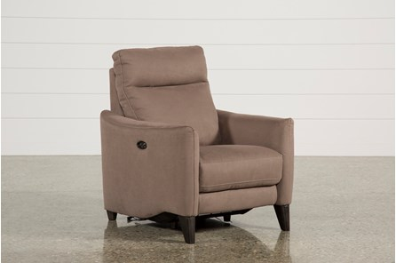 Melina Cocoa Power Recliner W/Usb - Main