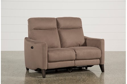 Melina Cocoa Power Reclining Loveseat W/Usb - Main