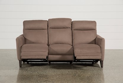 Fantastic Melina Cocoa Power Reclining Sofa W Usb Andrewgaddart Wooden Chair Designs For Living Room Andrewgaddartcom