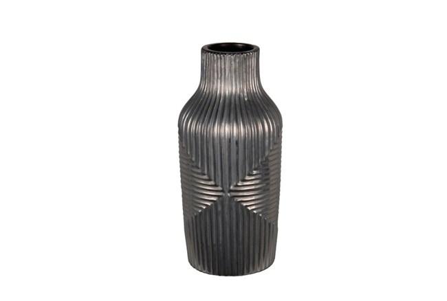 Short Vase Dark Silver - 360