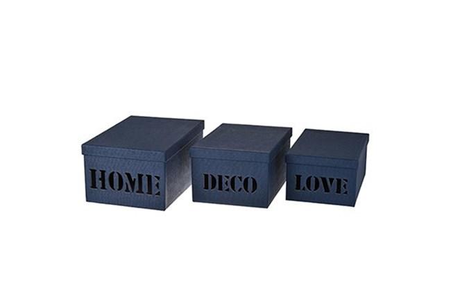 3 Piece Set Home Deco Love Storage Boxes - 360