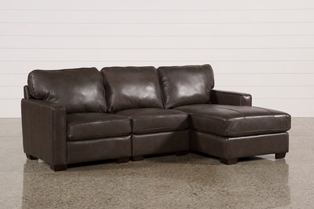 Redford Coffee 3 Piece Right Facing Chaise Sectional