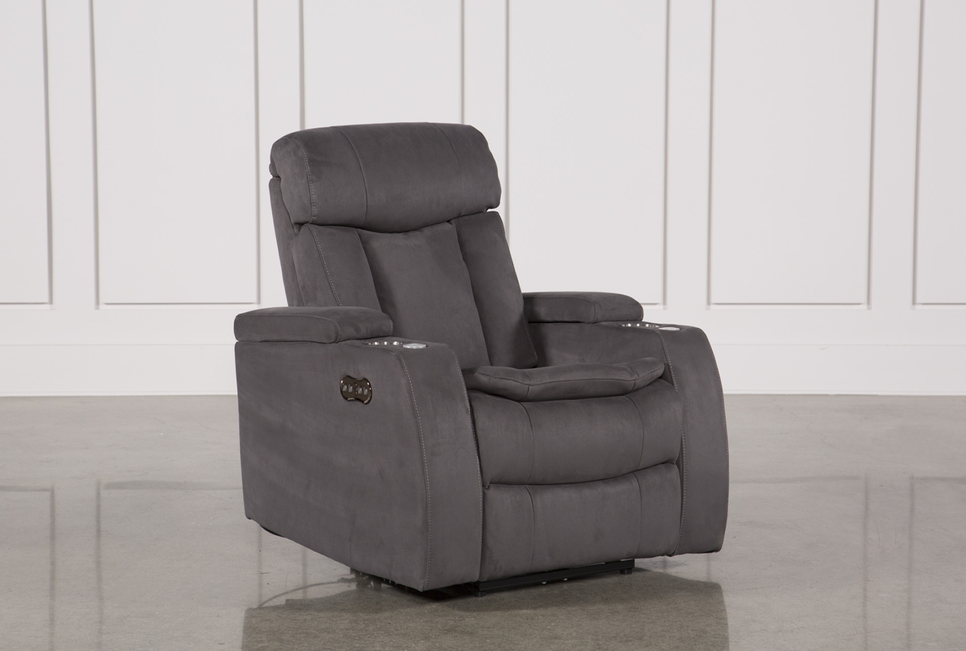 Celebrity Steel Home Theater Recliner W/Power Headrest | Living Spaces